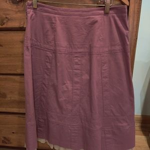 Anthropologie size 6 lavender colored skirt.